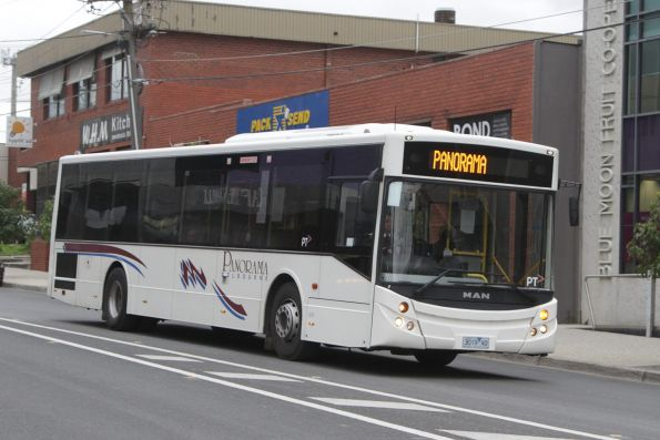 Panorama 3019AO on a Blackburn-bound rail replacement bus service for the Blackburn Road level crossing removal project