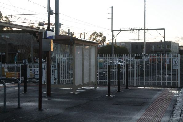 Temporary myki readers at the down end of Blackburn platform 1 and 2 have been removed