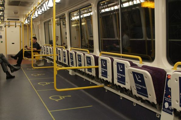 Massive wheelchair area in the lead carriage of a 120 series IMU