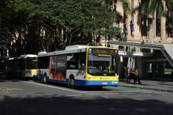 Brisbane Transport bus E2054 on Adelaide Street, outside the King George Square busway station