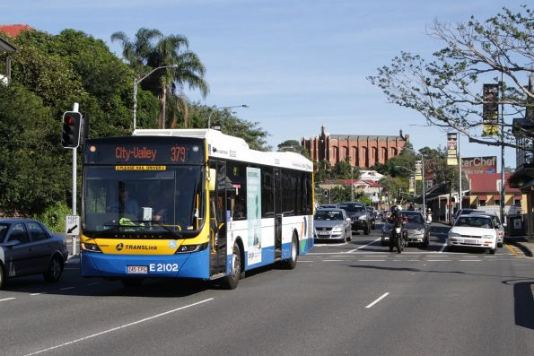 Brisbane Transport bus E2102 on route 379 on Musgrave Road in Normanby
