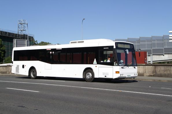 Brisbane Bus Lines rego BBL68 on a QR rail replacement service on Bowen Bridge Road, Fortitude Valley