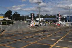 Todds Road level crossing in Lawnton