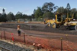 Work on the future Moreton Bay Rail Link south of Petrie station