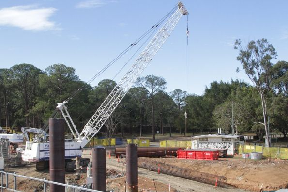 Work on the future Moreton Bay Rail Link at Petrie station