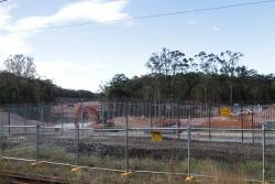 Junction of the future Moreton Bay Rail Link at Petrie station