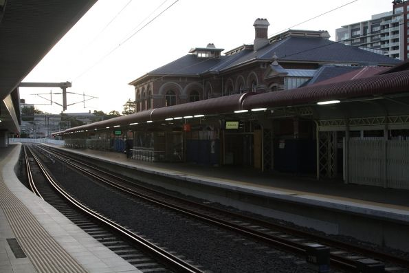 Restored station building on platform 3 at Roma Street