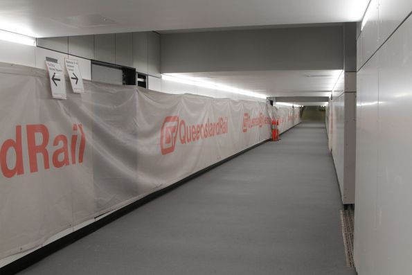 Refurbishment work on the Anzac Square pedestrian subway at Central station