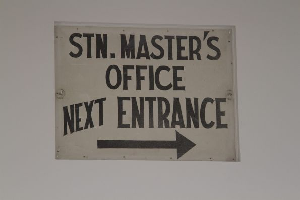 Preserved 'Station Masters Office' sign in the Anzac Square pedestrian subway at Central Station