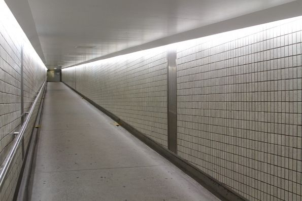 Heading towards the Wickham Terrace car park via the Anzac Square pedestrian subway at Central Station