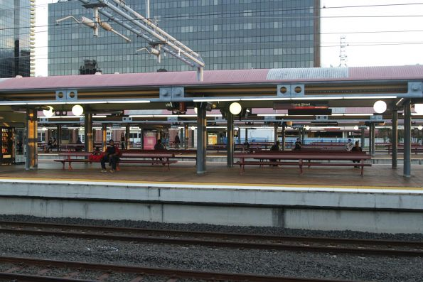 Looking over the suburban platforms at Roma Street