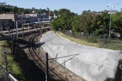'Hole in the Wall' at Bowen Hills linking the mainline towards Central to the Exhibition Loop