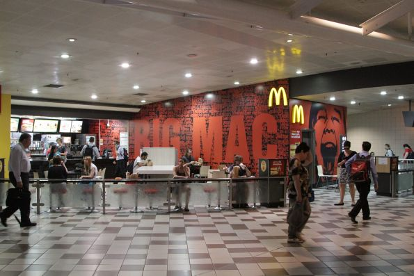 McDonalds on the concourse at Brisbane Central station