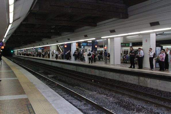 Looking over to platforms 5 and 6 at Brisbane Central station