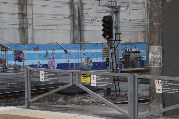 'NO EXIT' notices at the north end of Brisbane Central station