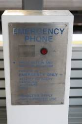 Emergency phone on the platform at Wooloowin station
