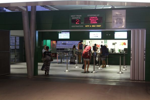 Ticket office at the entrance to Domestic station
