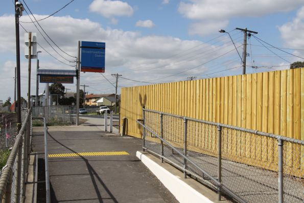 Eastern access ramp to Broadmeadows station