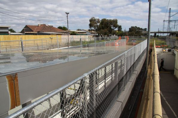 New glass roofed ramp to Broadmeadows platform 1