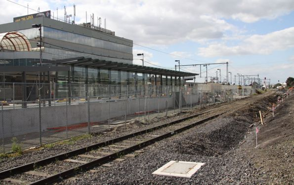 New glass shelter and enclosed ramp on Broadmeadows platform 1