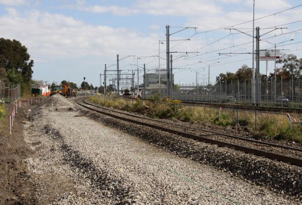 Trackbed prepared for the slew of the SG line at Broadmeadows