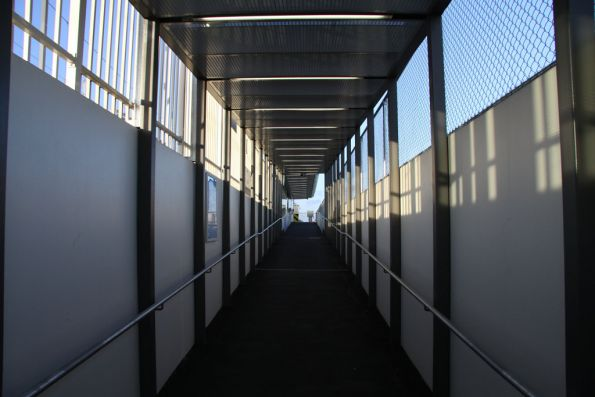 Looking up the ramp to Broadmeadows platform 1