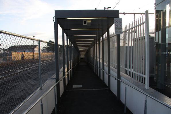 Looking down the ramp from Broadmeadows platform 1