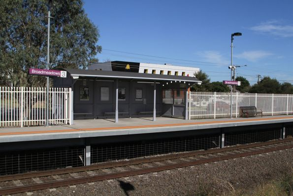 Broadmeadows standard gauge platform construction