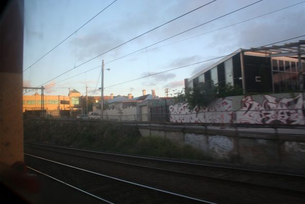 Passing through Footscray on the goods lines