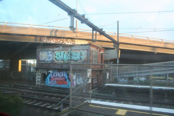 Passing West Footscray station on the goods lines