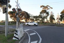 Replacement level crossing lights have finally been installed