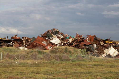 The pile of scrapped wagons at Brooklyn not looking much bigger