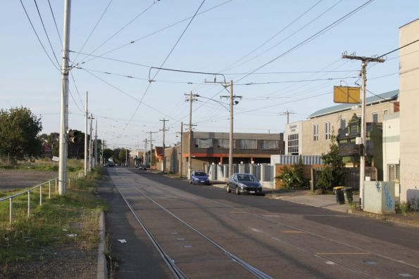 Looking north from Brunswick Depot back towards Moreland Road