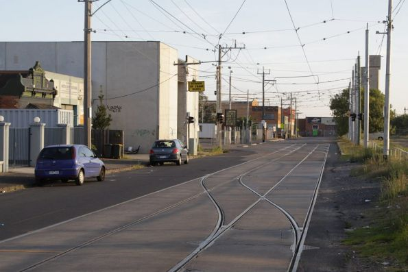 Track leading towards Brunswick Depot, looking south