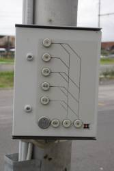 Push button controls for the pointwork outside Brunswick Depot