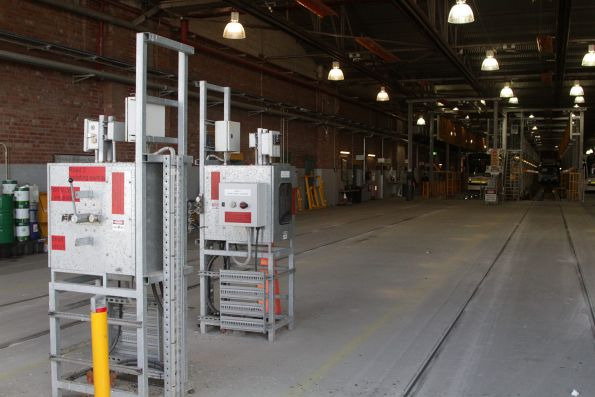 Isolation switches for the overhead power for roads 2 and 3 at Brunswick Depot