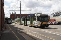B2.2118 and Z3.137 among stabled trams at Brunswick Depot