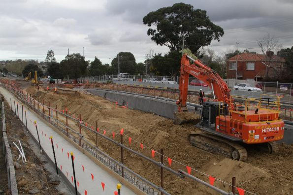 Work well underway on the new low level track alignment at Gardiner station