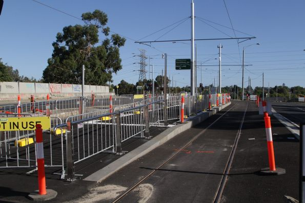 New platform stop for route 72 trams on Burke Road