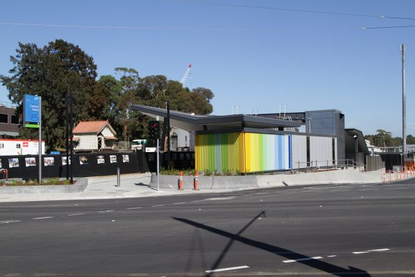 Sea of concrete and asphalt has replaced the Burke Road level crossing at Gardiner station