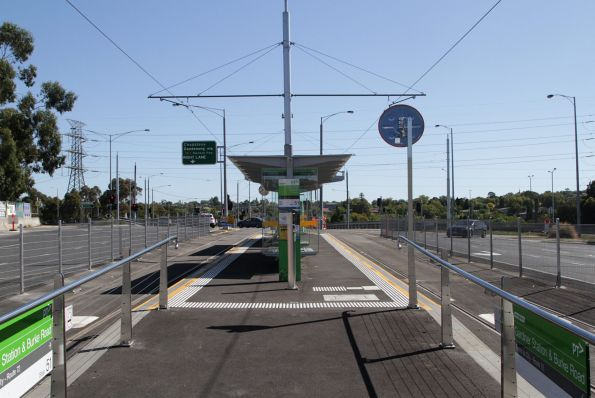 New platform stop for route 72 trams at Gardiner station