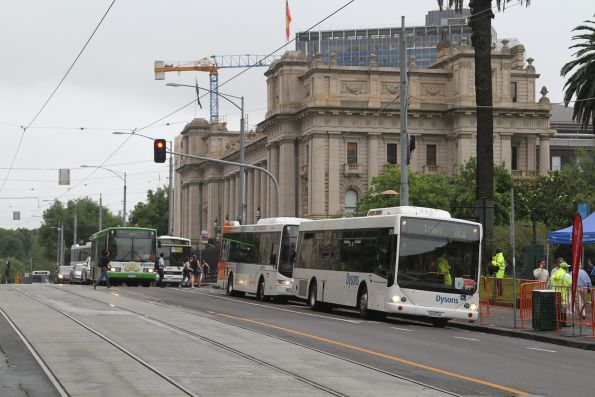 Dysons, CDC Melbourne and Ventura buses at Parliament station