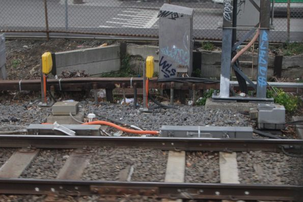 New axle counters and trainstops at East Richmond, as part of the Burnley resignalling project