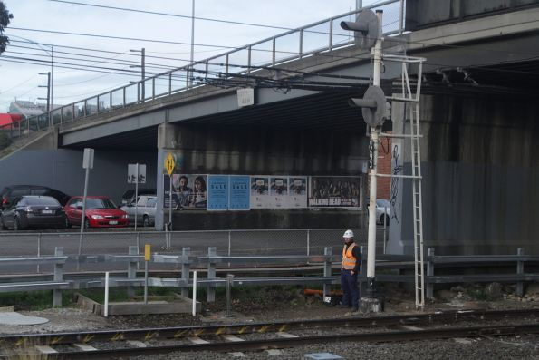 New signal trunking installed at Burnley, as part of the resignalling project