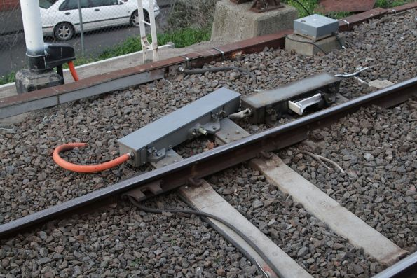Existing and new trainstops in place at the Burnley end of Richmond platform 10
