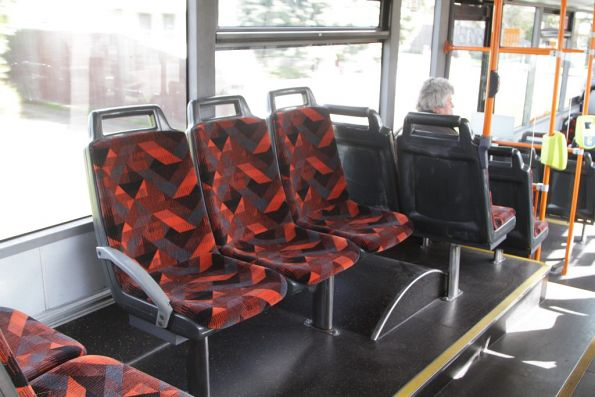 New seat fabric onboard a refurbished Transdev bus