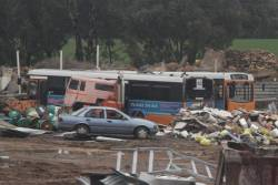 Ex-ACTION buses at the Marx Metal Recycling scrapyard outside Ararat