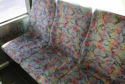 'Sita' branded seat fabric onboard a Sita bus