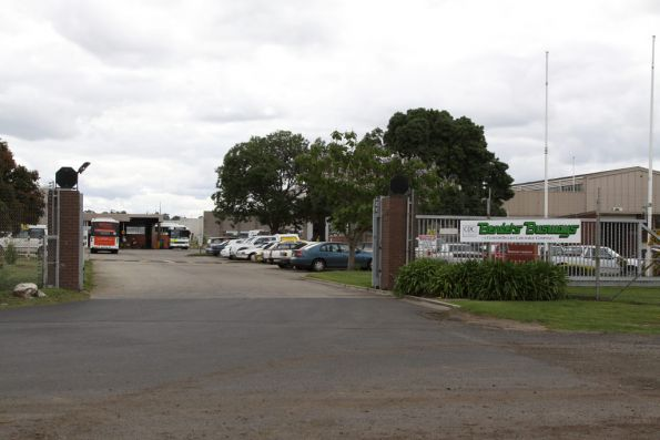 Outside the Benders Busways depot in Edols Street, North Geelong