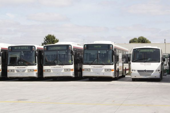 Tullamarine Bus Lines 1122AO, 1107AO, 1117AO and 1103AO stabled at their depot